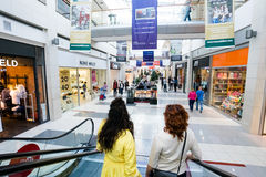 Interior of a modern shopping center Royalty Free Stock Images