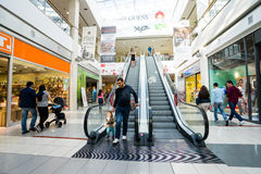 Interior of a modern shopping center Stock Image