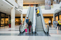 Interior of a modern shopping center Stock Photo