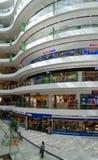 Interior of modern shopping center Toptani, Tirana, Albania. TIRANA, ALBANIA - SEPTEMBER 6, 2017: Unknown people visit large modern shopping center Toptani Stock Image