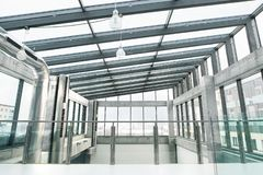 An interior of a modern spacious office building. stock image