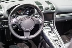 Interior of a modern sports car royalty free stock images