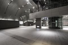 Interior of the modern station building Royalty Free Stock Images