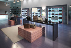 Interior of a modern store Royalty Free Stock Photography