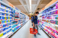 Interior of a modern supermarket IDEA Royalty Free Stock Photos