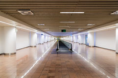 Interior of a modern terminal in international airport with esca Stock Image
