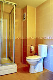 Interior of a modern tiled bathroom Royalty Free Stock Photography