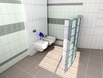 interior modern toilet stock illustrationer