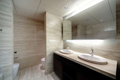 Interior of modern toilet in european style Stock Images