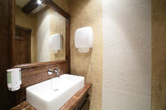 Interior of modern toilet in european style Royalty Free Stock Photo