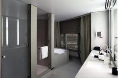 Interior of modern toilet in european style Stock Photos