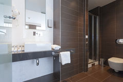 Interior of a modern toilette Stock Photos