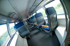 Interior of modern train Stock Images
