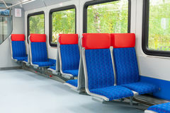 Interior of a modern train Stock Photo