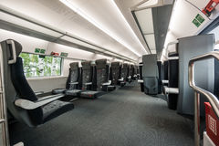 Interior of a modern train Stock Photos