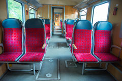 Interior of a modern train Royalty Free Stock Photo