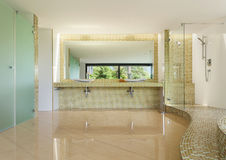 Interior modern villa, bathroom Stock Images