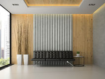 Interior of the modern waiting room 3D rendering Stock Photography