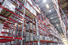 Interior of a modern warehouse Royalty Free Stock Image