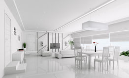 Interior of modern apartment 3d Stock Photos
