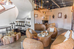 Interior of a modern wine bar Royalty Free Stock Image