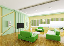 Modern living room interior 3d Royalty Free Stock Image