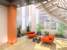 Interior moderno. Imagem de Stock