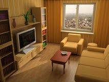 Interior moderno 3d fotografía de archivo libre de regalías