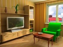 Interior moderno 3d fotos de archivo
