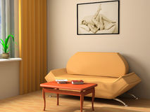 Interior moderno 3d Foto de Stock Royalty Free