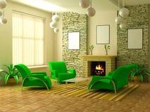 Interior moderno 3d Imagem de Stock Royalty Free