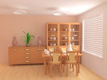 Interior moderno 3d Imagen de archivo libre de regalías