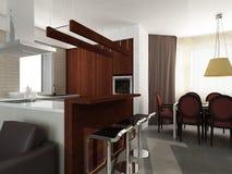 Interior moderno. 3D rendem Imagem de Stock Royalty Free
