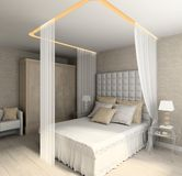 Interior moderno. 3D rendem Foto de Stock