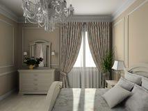 Interior moderno. 3D rendem ilustração royalty free