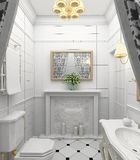 Interior moderno. 3D rendem Imagens de Stock