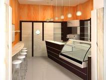 Interior moderno - barra Fotografia de Stock