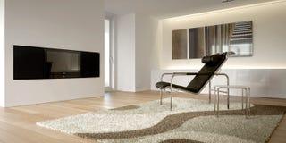 Interior moderno branco Fotografia de Stock Royalty Free