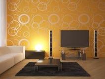 Interior moderno coloreado Fotografía de archivo libre de regalías