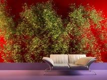 Interior moderno com planta do vinho Imagem de Stock
