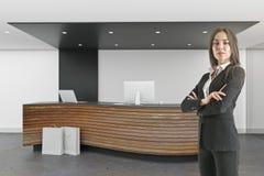 Interior moderno com quadro de avisos fotografia de stock