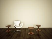 Interior moderno com rendição 3d Imagem de Stock Royalty Free