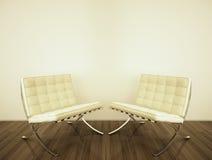 Interior moderno com rendição 3d Fotos de Stock