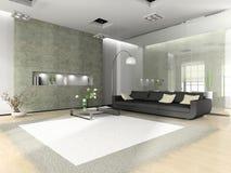 Interior moderno com sofá Foto de Stock Royalty Free