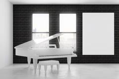 Interior moderno con el piano Imágenes de archivo libres de regalías