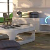 Interior moderno con estereofonia