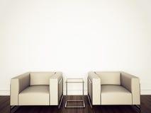 Interior moderno con la representación 3d imágenes de archivo libres de regalías