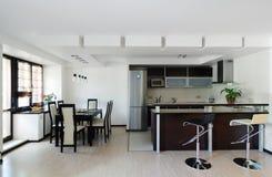 Interior moderno. Cozinha Imagens de Stock Royalty Free