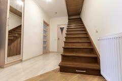 Interior moderno da arquitetura com corredor luxuoso elegante com gl Imagem de Stock Royalty Free