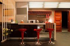 Interior moderno da barra ou do restaurante Foto de Stock
